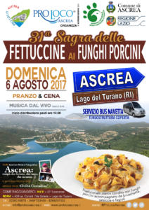 Ascrea_sagra delle fettuccine ai funghi porcini Fuoriporta