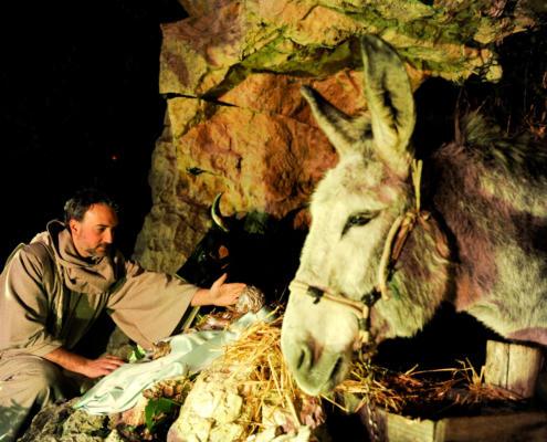 Dal 24 dicembre al 7 gennaio Greccio (RI) si trasforma in una piccola Betlemme
