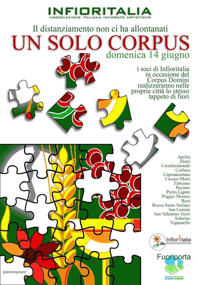 Infiorate: un solo corpus, l'Italia delle tradizioni riparte